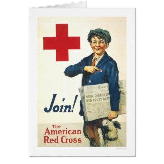 ¡Únase a! La Cruz Roja americana Felicitaciones