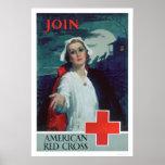 Únase a la Cruz Roja americana (US00307) Posters