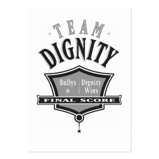 Únase a la dignidad del equipo - ningunas tarjetas tarjetas de visita grandes