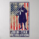 Únase a la impresión de la revolución póster