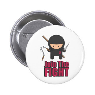 Únase a la lucha contra cáncer de pecho pin