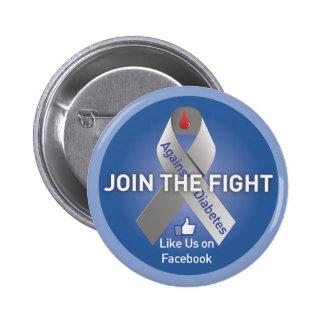 Únase a la lucha contra la diabetes pins