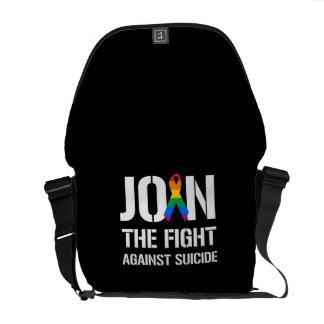 Únase a la lucha contra suicidio de LGBT Bolsa De Mensajería