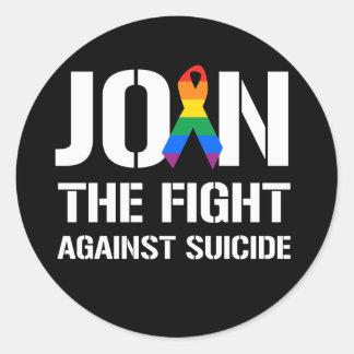 Únase a la lucha contra suicidio de LGBT Pegatinas