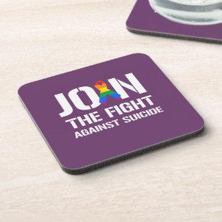 Únase a la lucha contra suicidio de LGBT Posavasos De Bebidas