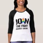 Únase a la lucha contra suicidio gay camiseta