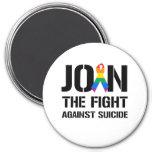Únase a la lucha contra suicidio gay imán de frigorifico