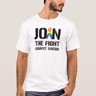 Únase a la lucha contra suicidio gay playera