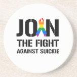 Únase a la lucha contra suicidio gay posavasos para bebidas