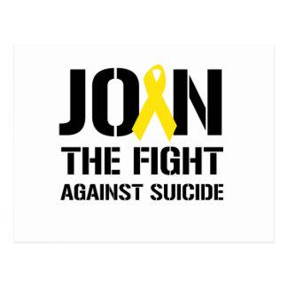 Únase a la lucha contra suicidio tarjetas postales