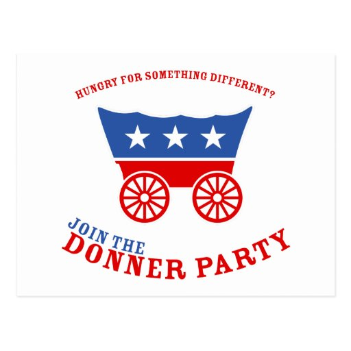 Únase a la postal del fiesta de Donner