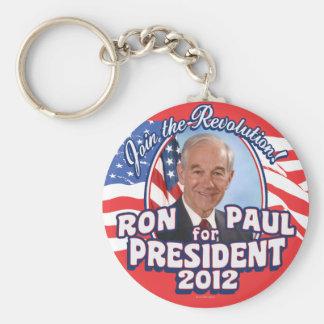 Únase a la revolución 2012 llavero redondo tipo pin