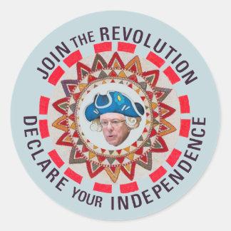 Únase a la revolución (de Bernie) Pegatina Redonda