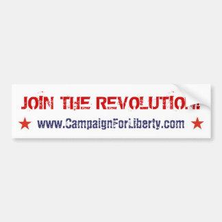 ¡Únase a la revolución! pegatina para el parachoqu Pegatina Para Auto
