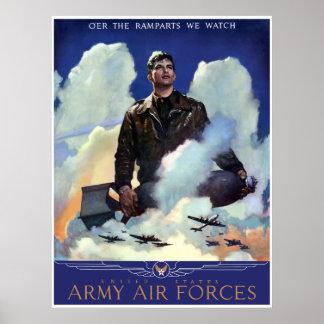 Únase a las fuerzas aéreas del ejército -- Fronter Póster