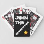 Únase a los naipes de la revolución baraja cartas de poker