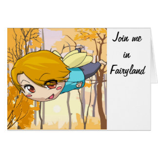 Únase a me en Fairyland Tarjeta De Felicitación