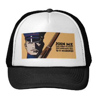 Únase a me los infantes de marina de los E.E.U.U.  Gorra