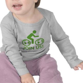 Únase a nos combustible de la bici camisetas