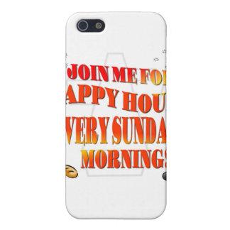 Únase a nos para la hora feliz el cada los domingo iPhone 5 cárcasas