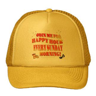 Únase a nos para la hora feliz el cada los gorras de camionero