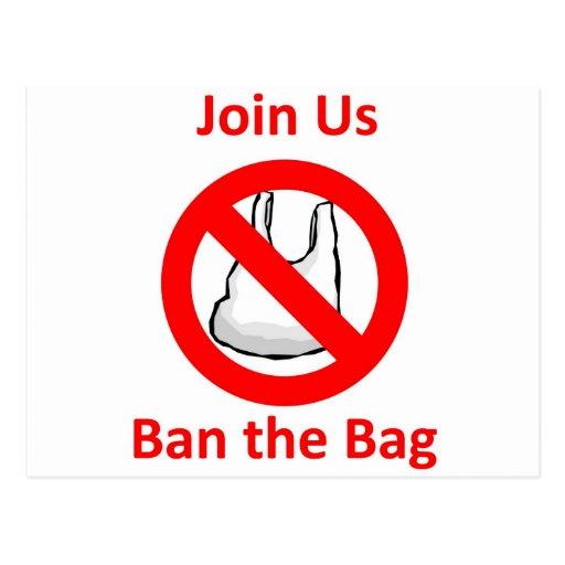 Únase a nos, prohíba el bolso en todo el mundo postal