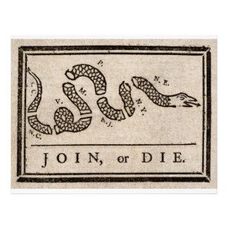 Únase a o muera dibujo animado político de Benjami Membretes Personalizados