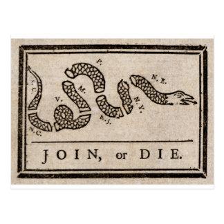 Únase a o muera dibujo animado político de Benjami Tarjetas Postales