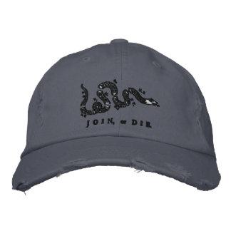 Únase a o muera gorra bordado gorra de béisbol
