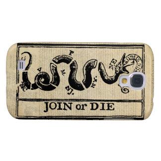 Únase a o muera grabar en madera en Declaración de Funda Para Galaxy S4