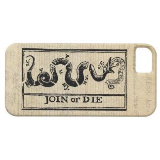 Únase a o muera grabar en madera en Declaración de iPhone 5 Funda