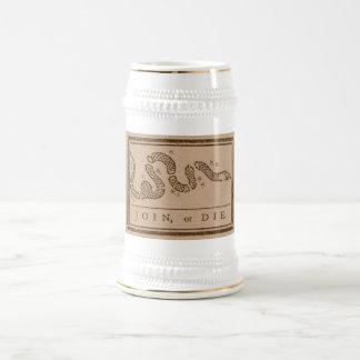 Únase a o muera jarra de cerveza