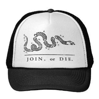 Únase a o muera - libertario gorros bordados