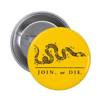 Únase a o muera - libertario pin