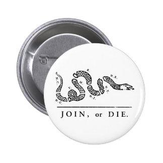 Únase a o muera libertario pin
