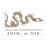 Únase a o muera libertario tarjeta postal