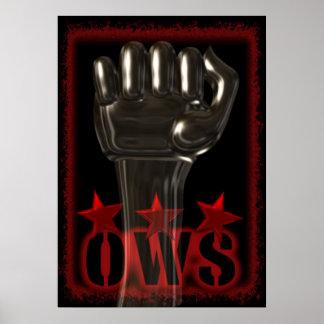 Únase a OWS ocupan el poster de Wall Street con el