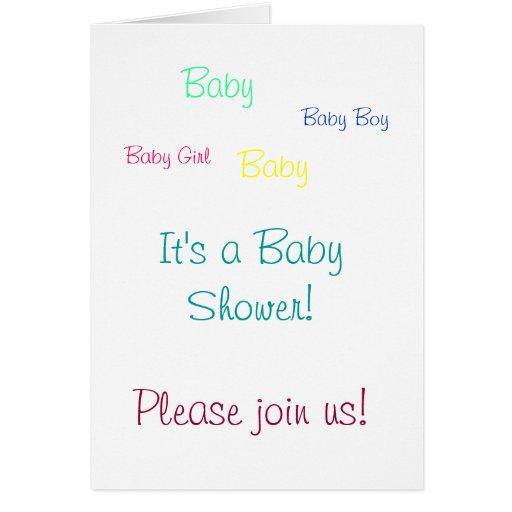 ¡Únase a por favor nos! , Bebé, niña, bebé, Bab… Tarjeta Pequeña