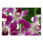Únase a por favor nos fotografía de la orquídea de tarjetas