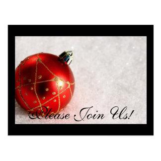 ¡Únase a por favor nos! Navidad de la postal de la