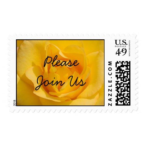 Únase a por favor nos sello