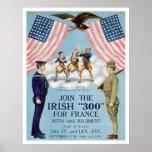 "Únase al ""300"" irlandés para Francia (US02064) Poster"