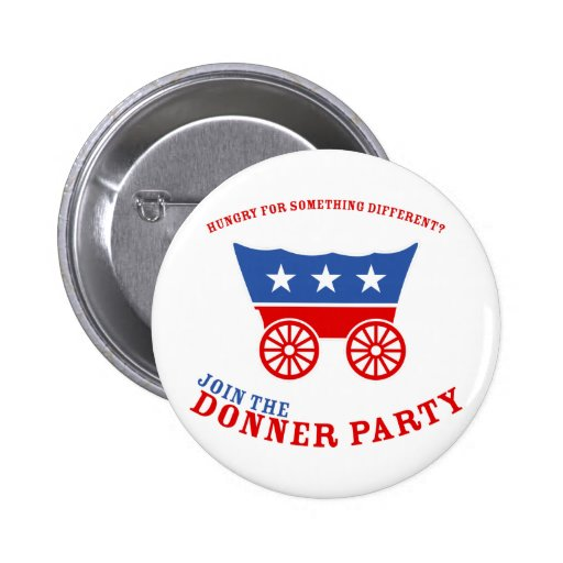 Únase al botón del fiesta de Donner Pins
