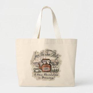 Únase al camisetas y los regalos del té de la fies bolsa de tela grande