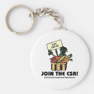 Únase al CSA Llavero Redondo Tipo Pin