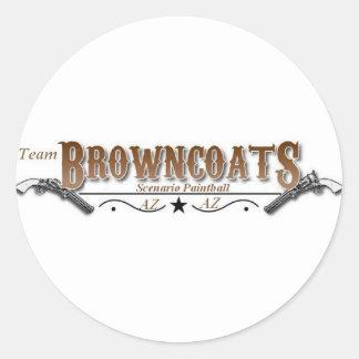 Únase al equipo Browncoats Pegatina Redonda
