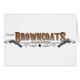 Únase al equipo Browncoats Tarjeta De Felicitación