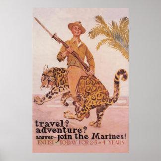 Únase al Infante de marina-Reclutamiento hoy Póster
