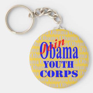 Únase al llavero del cuerpo de la juventud de Obam
