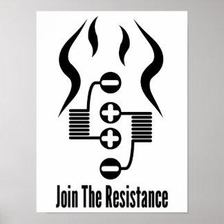 Únase al poster de la resistencia